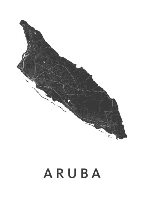 Aruba Country Map