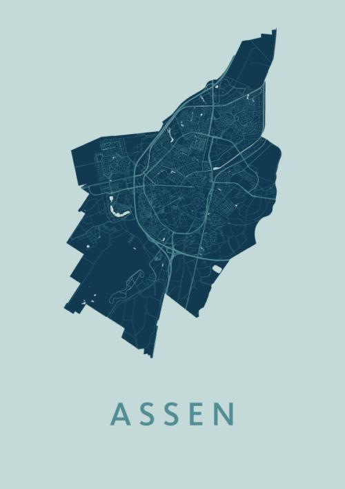 Assen Mint Stadskaart Poster | Kunst in Kaart