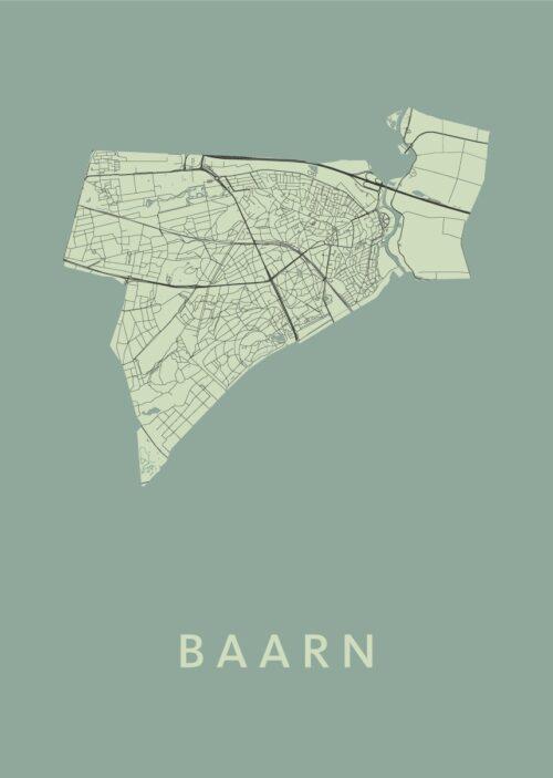 Baarn Olive Stadskaart Poster | Kunst in Kaart