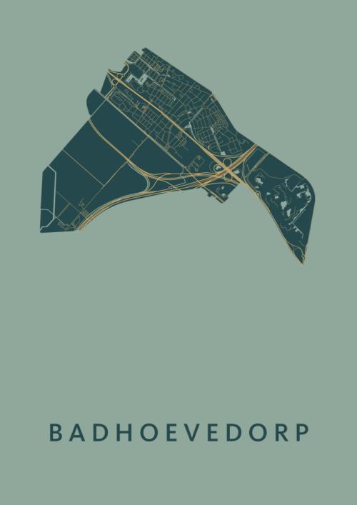 Badhoevedorp Amazon Stadskaart Poster | Kunst in Kaart