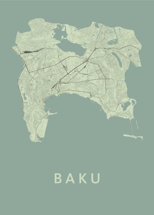 Baku Olive City Map