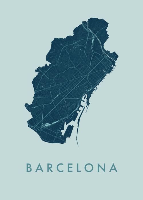 Barcelona Mint City Map