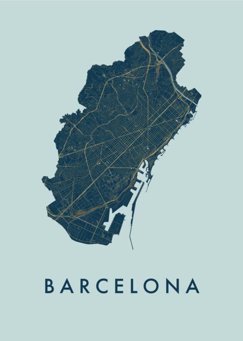 Barcelona Prussian City Map
