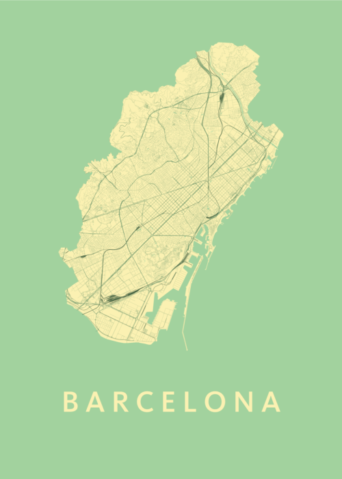 Barcelona Spring City Map