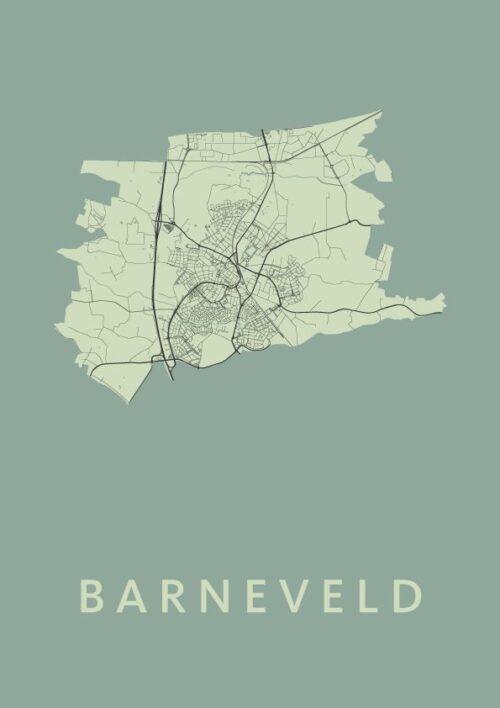 Barneveld Olive stadskaart poster