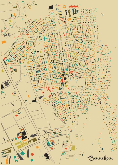 Bennekom Autumn Mosaic Map