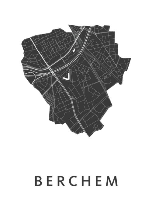 Berchem White City Map