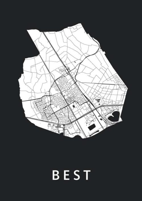 Best stadskaart poster