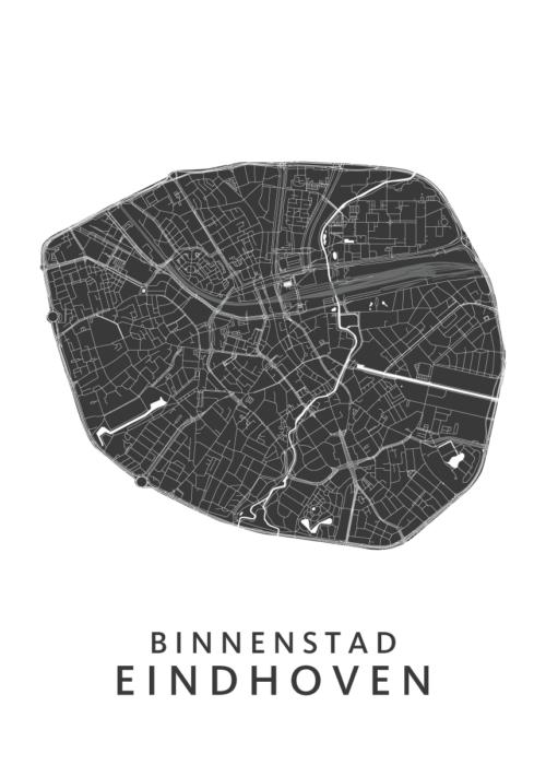 Eindhoven - Binnenstad White Wijk Map