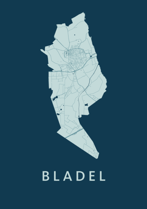 Bladel Feldgrau Stadskaart Poster | Kunst in Kaart