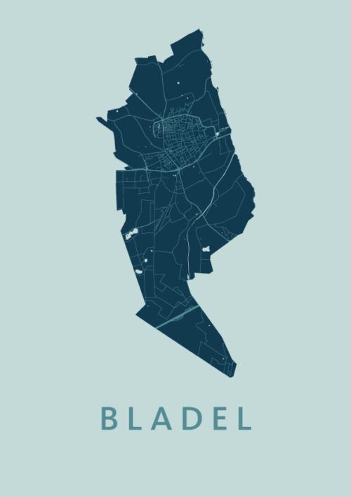 Bladel Mint Stadskaart Poster | Kunst in Kaart