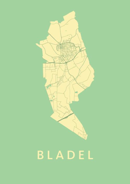 Bladel Spring Stadskaart Poster | Kunst in Kaart