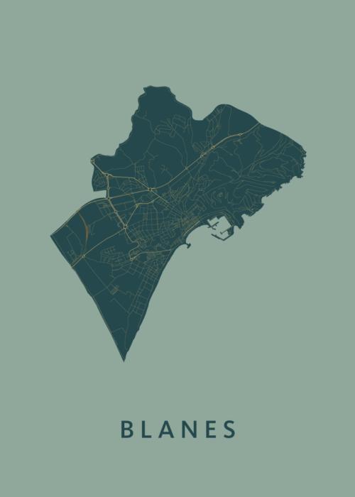 Blanes Amazon City Map Stadskaart poster | Kunst in Kaart