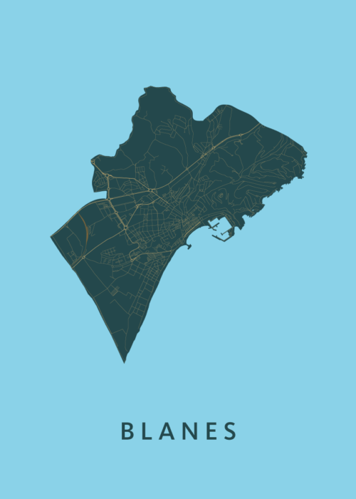 Blanes Azure City Map