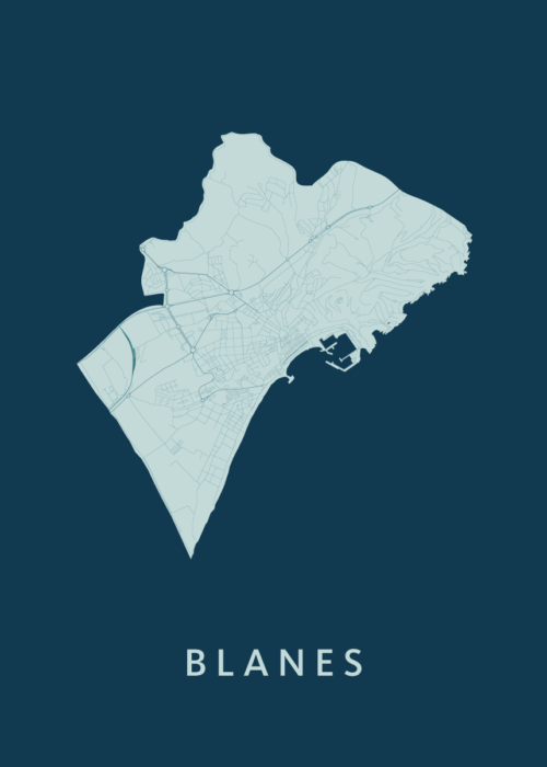 Blanes Feldgrau City Map