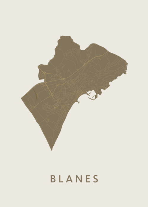 Blanes Gold City Map