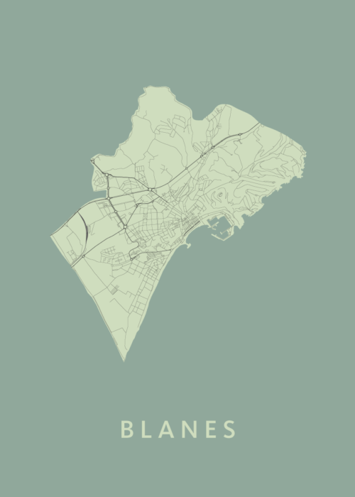 Blanes Olive City Map