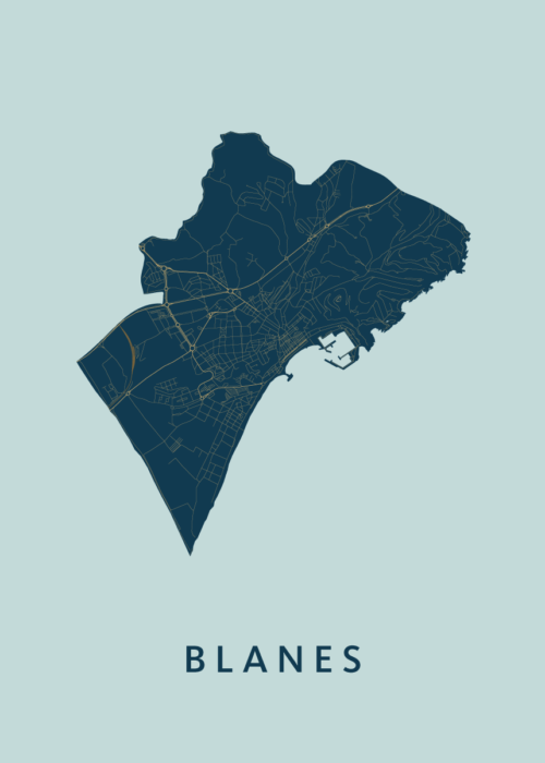 Blanes Prussian City Map