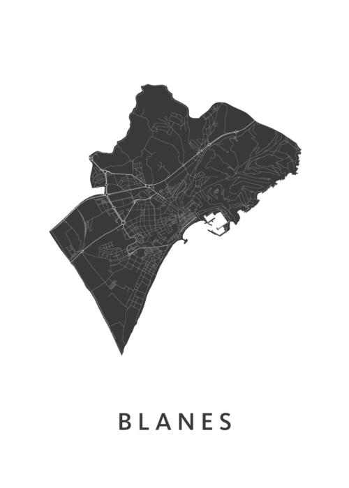 Blanes White City Map