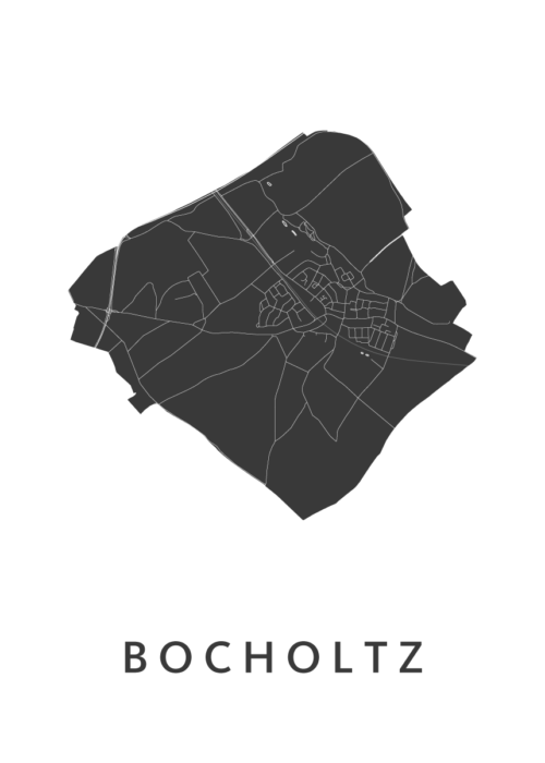 Bocholtz Stadskaart poster