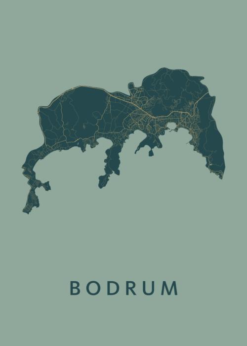 Bodrum Amazon Stadskaart Poster   Kunst in Kaart