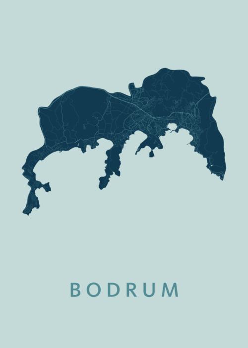 Bodrum Mint Stadskaart Poster   Kunst in Kaart