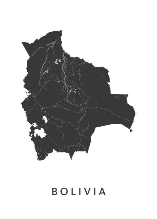 Bolivia Landkaart