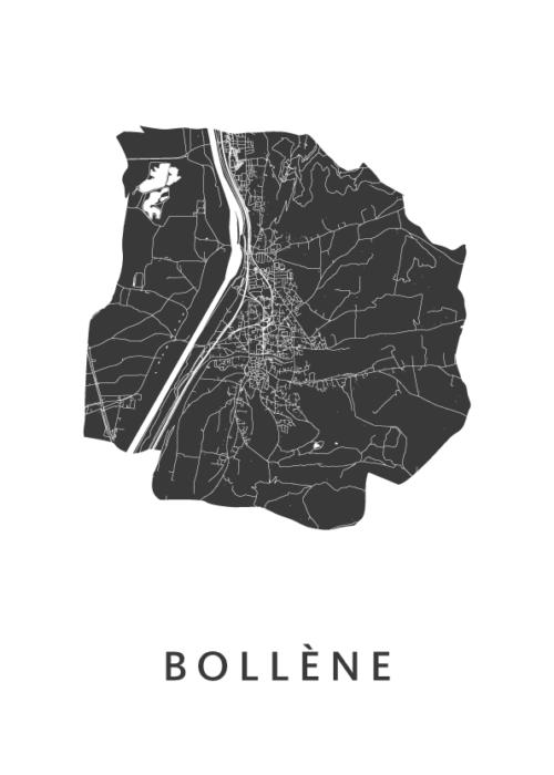 Bollène White City Map