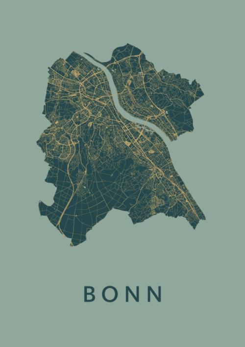 Bonn Stadskaart poster Amazon