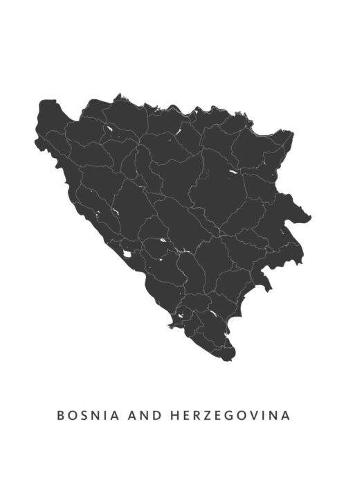 Bosnia and Herzegovina Country Map
