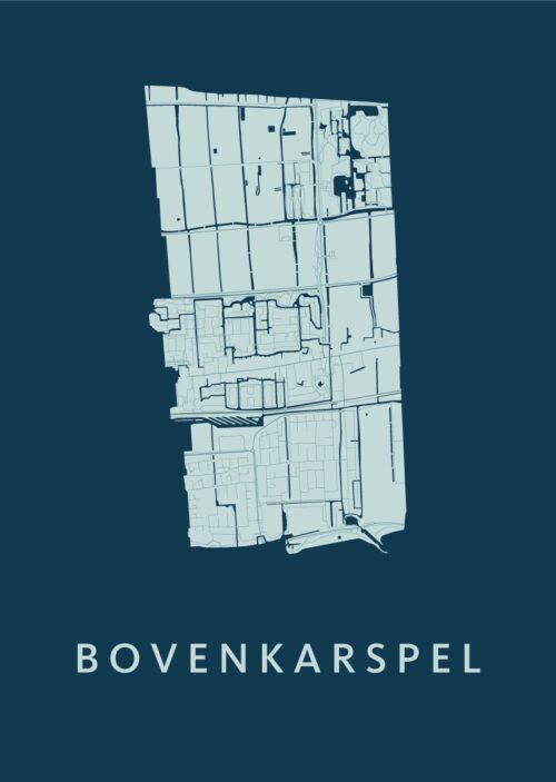 Bovenkarspel Feldgrau Stadskaart Poster | Kunst in Kaart