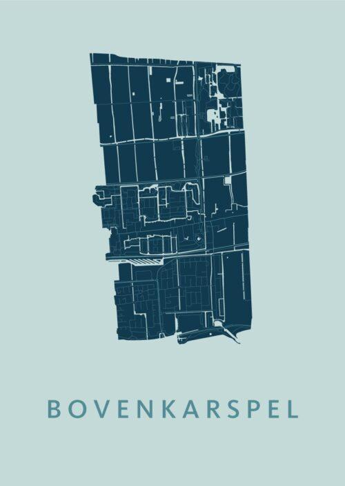 Bovenkarspel Mint Stadskaart Poster | Kunst in Kaart