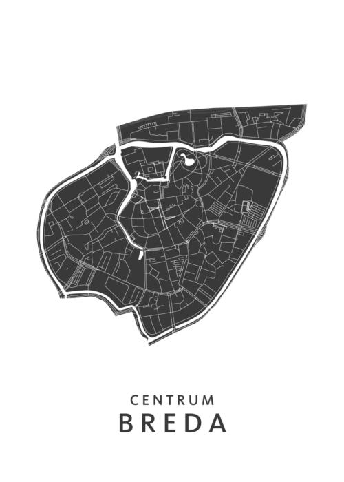 Breda - Centrum White Wijk Map
