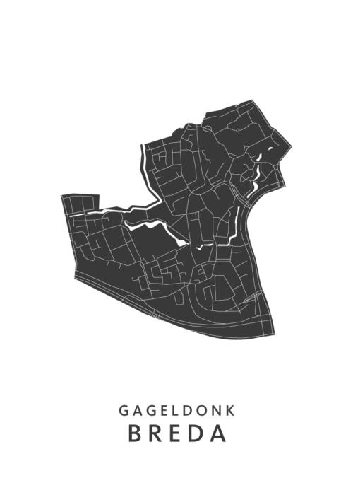Breda - Gageldonk White Wijk Map