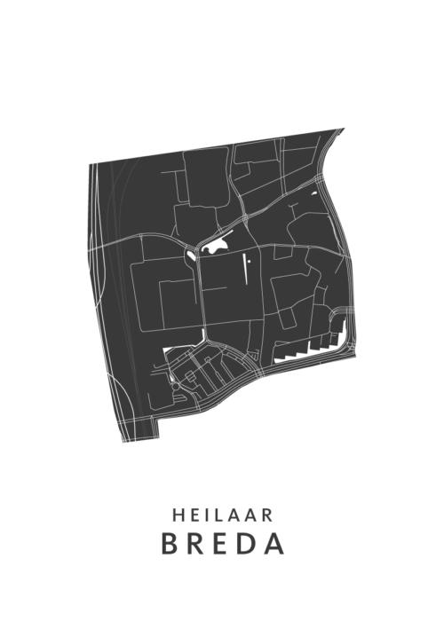 Breda - Heilaar White Wijk Map