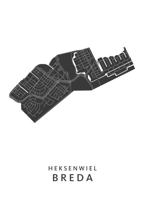 Breda - Heksenwiel White Wijk Map