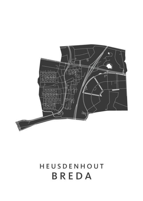 Breda - Heusdenhout White Wijk Map