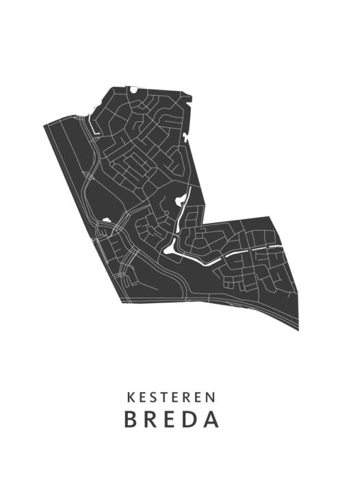 Breda - Kesteren White Wijk Map