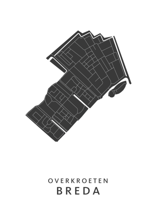 Breda - Overkroeten White Wijk Map