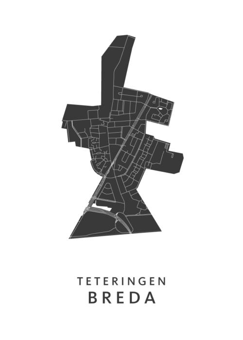 Breda - Teteringen White Wijk Map