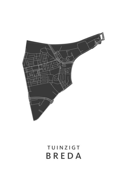 Breda - Tuinzigt White Wijk Map
