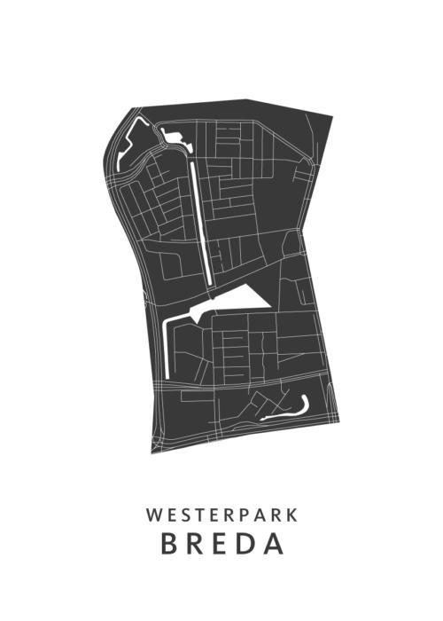 Breda - Westerpark White Wijk Map