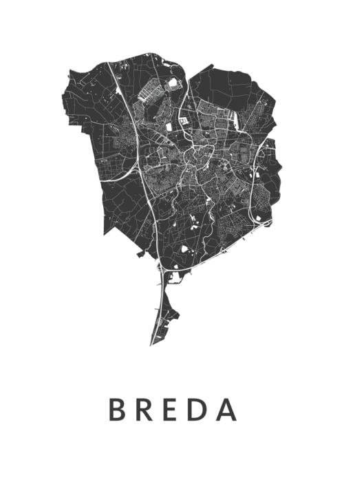 Breda Stadskaart Poster
