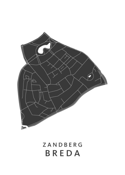 Breda - Zandberg White Wijk Map
