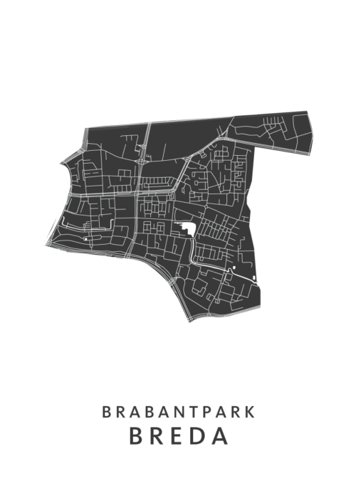 Breda - Brabantpark White Wijk Map