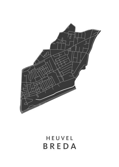 Breda - Heuvel White Wijk Map