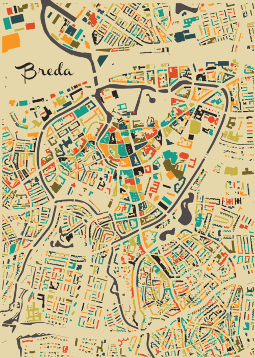 Breda Autumn Mosaic Map