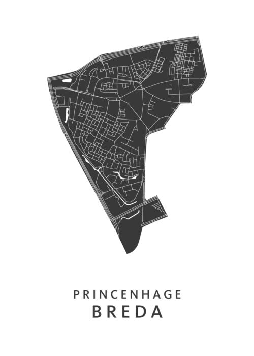 Breda - Princenhage White Wijk Map