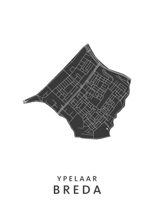 Breda - Ypelaar Wijkkaart - wit