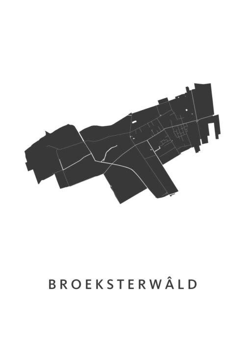 Broeksterwâld Stadskaart poster   Kunst in Kaart